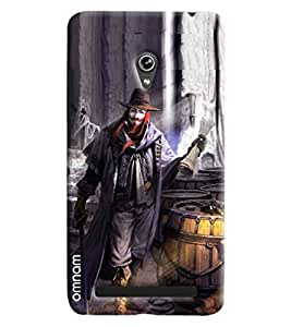 Omnam Magician Joker Printed Designer Back Cover Case For Asus Zenfone 6