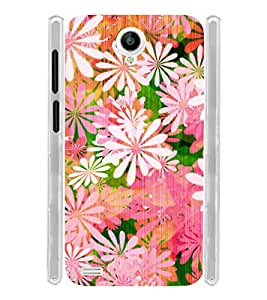 Floral Pink Pattern Soft Silicon Rubberized Back Case Cover for Vivo Y22