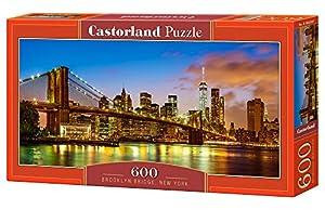 Castorland Brooklyn Bridge, New York 600 pcs Puzzle - Rompecabezas (New York 600 pcs, Puzzle Rompecabezas, Ciudad, Niños y Adultos, Niño/niña, 9 año(s), Interior)