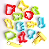 #7: iDream® 14pcs Play Dough Cutters and Modelling Tools with Knife