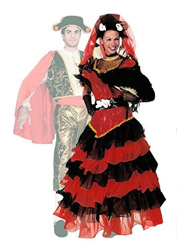 FIORI PAOLO-Disfraz Carnaval Atelier Española M rojo/negro