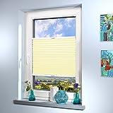 Schwer entflammbare Plissee nach Maß (B1, DIN 4021), hochqualitative Wertarbeit, für Fenster und Türen, alle Größen und mehr als 20 Farben verfügbar, Maßanfertigung (Farbe: Gelb, Höhe: 20-80cm, Breite: 61-70cm)
