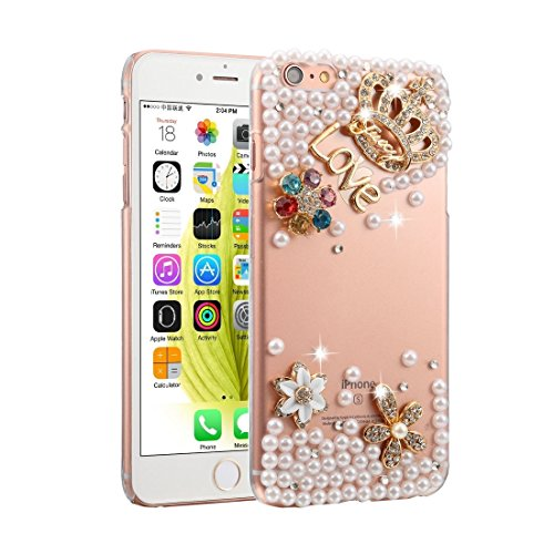 YAN Für iPhone 6 Plus / 6s Plus Diamond Encrusted Bling Crown Pattern PC Schutzhülle Back Cover ( SKU : IP6P1003B ) IP6P1003A