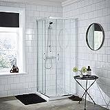 VeeBath Fenwick Bathroom 760 x 760 x 1850mm High Sliding Corner Entry Shower Enclosure Door Shower Cubicles Only