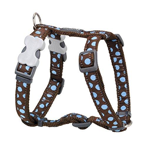 Red Dingo Hundegeschirr verstellbar gepunktet Braun/Blau