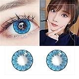 2PCS Farbige Kontaktlinsen Große Augen Mädchen Stil Kontaktlinsen Großes Auge große Pflaumenblüte Stil kosmetische Kontaktlinsen