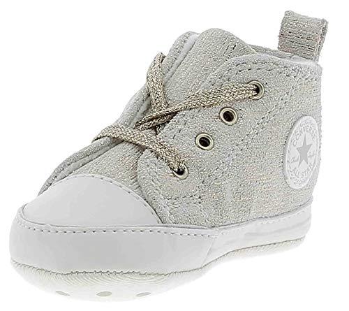 Converse Baby Jungen Chuck Taylor CTAS First Star Hi Hausschuhe, Mehrfarbig (Egret/White / Mouse 281), 17 EU