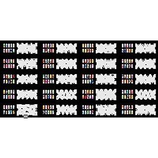 abestair verwendbar Airbrush Nail Schablone 240Designs–20Vorlage Blatt Set 3