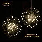 Guirlande lumineuse LED, 8 modes réglables avec télécommande, luminaires suspendus...