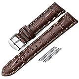 iStrap 18mm 19mm 20mm 21mm 22mm 24mm Geuine Leder Uhrenarmband Krokodil Muster Uhrenarmband - Schwarz Braun (4 Arten zu wählen) …