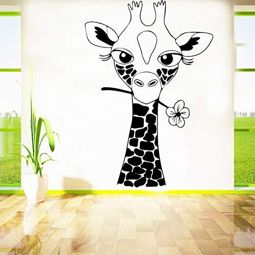 Niedlichen Hirsch Kinderzimmer Dekoration Vinyl Wandaufkleber für Baby Room Decor Wohnzimmer Dekoration Zubehör Adesivo Parede 43 * 62 cm - Hirsch Rustikale Wandleuchte