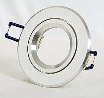 Spot de ral-cadre rond en aluminium mat gU10 mR16 fasssung sans halogènes ou lED