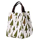 vanpower Cute Reusable Canvas Lunch Bag Insulated Lunch Tote Soft Bento Cooler Bag