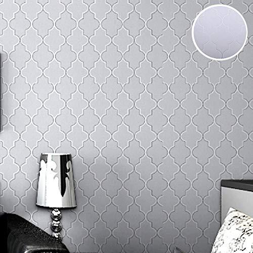 Telihome Diamant-Druck-Marokkanisches Gitter-Modernes Gitter-Tapeten-Zeitgenössisches Geometrisches Wand-Papier Für Kinder,A,0.53 * 10M