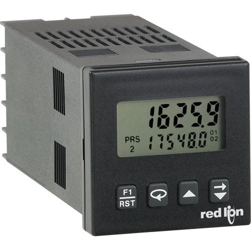 Red Lion C48C Dual Preset 1/16 DIN Counter Digital Panel Meter with Relay Output, 6 Digit Reflective LCD Display, 85-250 VAC Input Voltage, 50/60 Hz by Red Lion