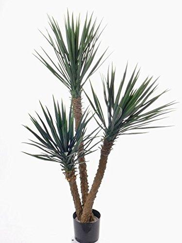 Set 2 x Künstliche Yucca Rostrata JIMENA, 215 Blätter, grün, 160 cm - Kunstpalme / Deko Palme - artplants