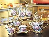 Taza de café de cerámica/Juego de café con/Juego de té Europeo/Juego de Taza de Flores/Paquete de té inglés por la Tarde en el hogar, 15 Butterflies Coffee Cup Gift Box [023]