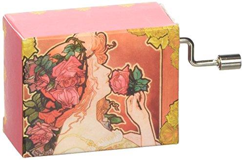 Fridolin-58275-Spieluhr-Jugendstil-La Vie en Rose-rot (Rose Box Music)