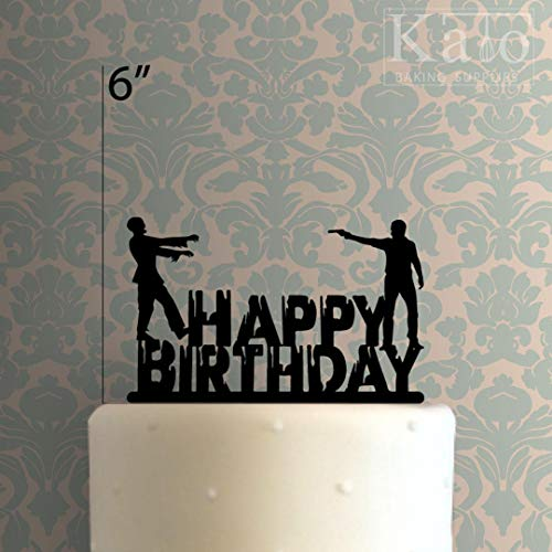 14CareyDai Tortenaufsatz aus Acryl, Motiv Happy Birthday Zombie