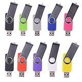 WST (Lot de 10) Clé USB 8Go Mémoire Flash USB 2.0 (9 Couleurs)