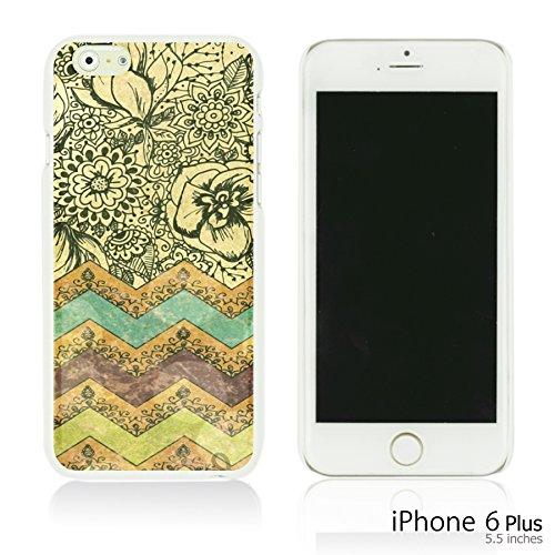 OBiDi - Fabric Pattern Hard Back Case / Housse pour Apple iPhone 6 Plus / 6S Plus (5.5)Smartphone - Pink Boho Pattern Bohemian Art Painting
