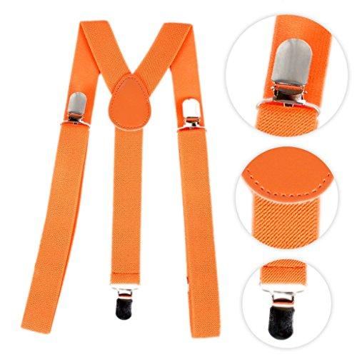 Bretelle unisex regolabili orange taglia unica