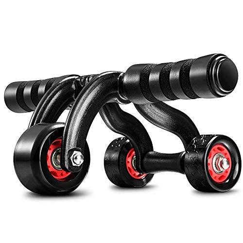 Chlyuan-sp AB Roller Bauchtrainer 3-Rad Dreieckige Ab Roller Fitnessgeräte Schwere Bauch Carver Abs Trainer Outdoor Indoor Workout Maschine zum Aufbau von Bauchmuskeln und Kernkrafttraining