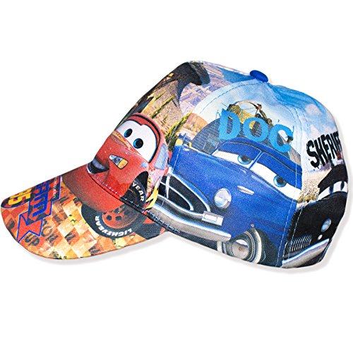 Image of Official Disney Pixar Cars Boys Summer Baseball Cap Adjustable Sun Hat - 54cm