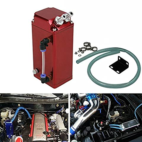 ALLOYWORKS Billet Aluminum Engine Square Oil Catch Reservoir Breather Tank Can Kit