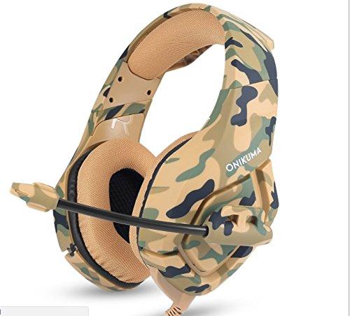 Camouflage PS4Headset Bass Gaming Kopfhörer Spiel Kopfhörer Audiophony Casque mit Mikrofon für PC Handy Neu Xbox One Tablet Gelb Gelb