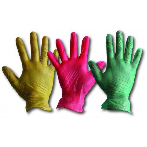 hausmeistertätigkeiten Express dg163-m Vinyl Einweg Handschuhe, puderfrei, Größe M, grün
