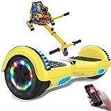 RCB Hoverboard 6.5 Pulgadas, Auto Equilibrio Patinete eléctrico, Ruedas de Luz LED, Bluetooth,...