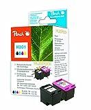 Peach Spar Pack Druckköpfe kompatibel zu HP No. 301 black, CH561EE,  No. 301 color, CH562EE