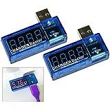 COM-FOUR® USB Charger Doctor Multimeter Ladegerät Detektor Strom- und Spannungsmesser Digitaler Voltmeter Tester 3,5 V-7,0 V, 0-3A (1 Stück)