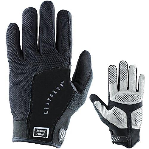 C.P.Sports Maxi-Grip-Handschuh, Fahrradhandschuhe mit Langen Fingern für Damen und Herren, Rad Handschuhe Gr. S