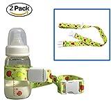 Universal Botella de Bebé Seguridad Correa Cinturón, HULISEN Bebé un Vasito Soporte Stop Drop para Trona Stroller Pram, Cesta de la Compra Verde