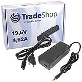 Notebook Laptop Netzteil Ladegerät Ladekabel Adapter 19,5V 4,62A 90W inkl. Stromkabel für Dell Latitude D-510 D-520 D-600 D-610 D-620 D-800 D-810 D-820 100-L X-1 X-300 Precision Workstation M20 M60