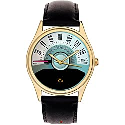 Classic Speedometer Scale Mustang Car Enthusiast's Collectible Wrist Watch. 40mm