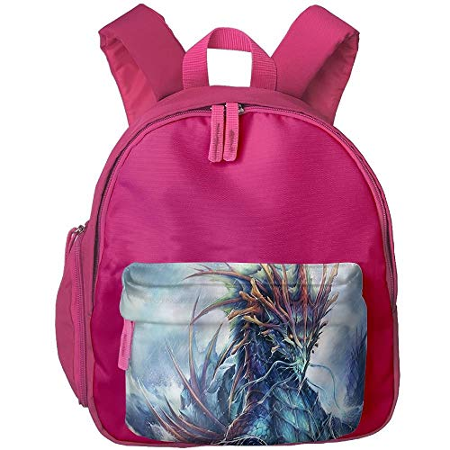 0b3ed9968 Ancient sea dragon print children's fashion backpack bag 3.9 X 10.6 X 12.5  inch
