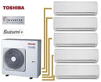 Toshiba SUZUMi+ 5-Split RAS-5M34UAV-E1 + 4 RAS-M07N3KV2-E + 1RAS-B13N3KV2-E