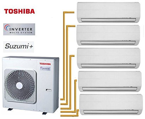 TOSHIBA SUZUMI + 5-SPLIT RAS-5M34UAV-E1+ 4RAS-M07N3KV2-E + 1RAS-B13N3KV2-E