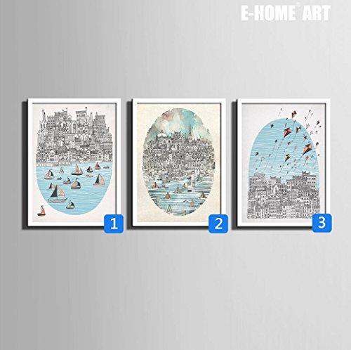 ciudad-y-el-marco-del-mar-pintura-pintura-decorativa-arte-de-la-pared-pintado-oilcloth-comedor-habit