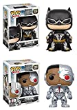Funko POP! Justice League: Batman + Cyborg – DC Stylized Vinyl Figure Set NEW