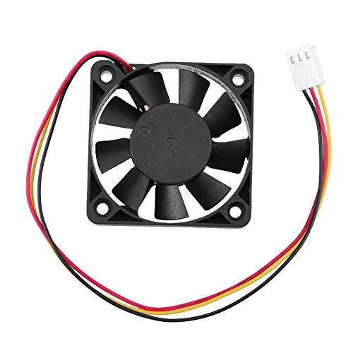 Demiawaking 3 Pin CPU 5cm Kühler Lüfter Kühlkörper Kühlung 50mm 10mm für PC Computer 12V (2Stk.) -
