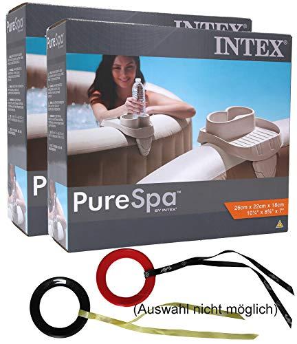Intex Getränkehalter Doppelpack für PureSpa Whirlpool mit Targit-Glider