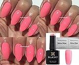 BLUESKY UBV-/LED-Gel-Nagellack, Farbton: Pink Lemonade, Limitierte Sonderedition, Nagellack, Gel-Lack, UV-/LED--Lack, Soak-Off-Lack 10ml, inkl. 2Tücher von homebeautyforyou für einen schönen Glanz