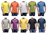 #10: Zacharias Pack of 10 Casual Multicoloured Round Neck Plain T-Shirts