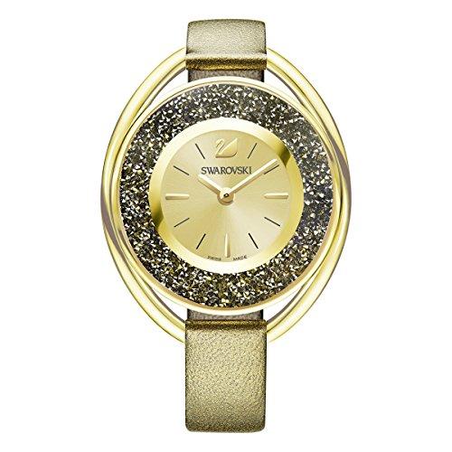 Swarovski orologio crystalline oval, dorato