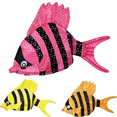 Fischmütze Tropen Fisch Hut pink Kopfbedeckung Fisch Fischhut Fischkostüm Zubehör Karnevalshut lustige Hüte