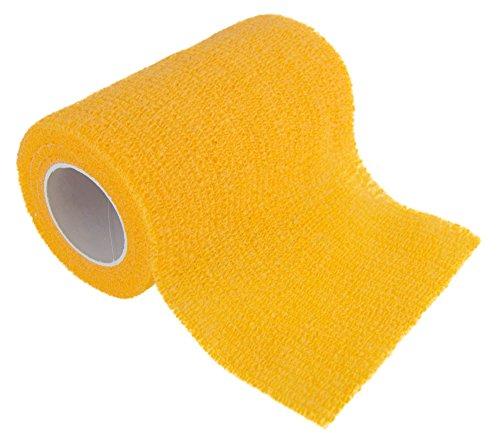 12 Premium Haftbandagen, selbsthaftende elastische Bandagen, Größe+Farbe wählbar, Farbe:sunny yellow, Größe:10cm